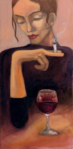 """""""Quando il destino ti chiude la porta in faccia entra dalla finestra"""" (anonimo) - olio Su canvas (70x100)"""